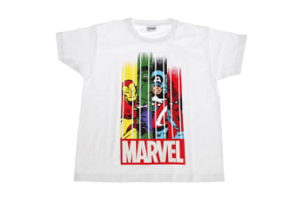Marvel Group Childrens/Kids Stripe Fade T-Shirt (White)