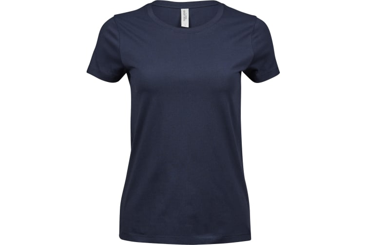 Tee Jays Womens/Ladies Luxury Cotton T-Shirt (Navy) (XXL)