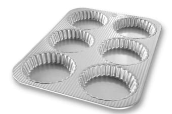 USA Pan Mini Fluted Tart Pan 6 Cup