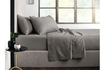 Sheridan Tindall 400TC Cotton Sheet Set (Shadow, Queen)