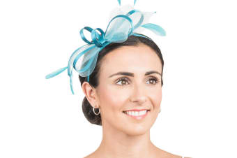 Hawkins Collection Womens/Ladies Net Bow Fascinator (Tuquoise) (One Size)