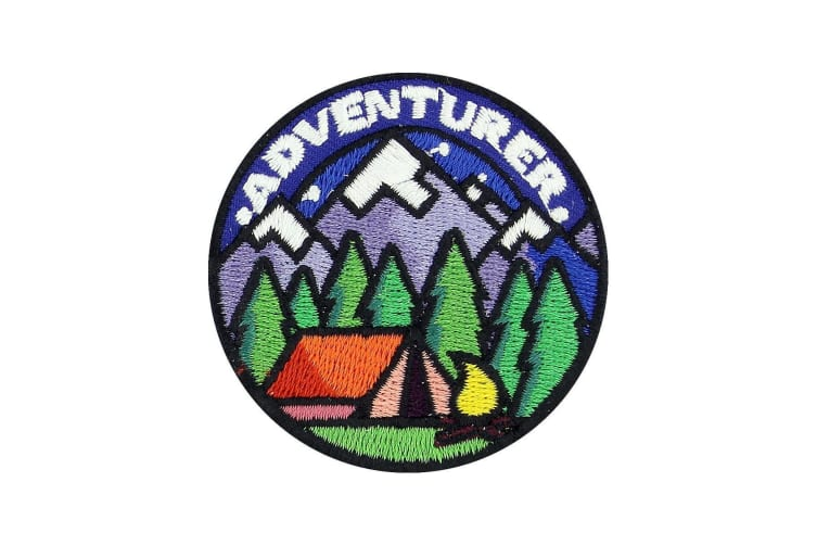 Grindstore Adventurer Camping Patch (Blue) (One Size)