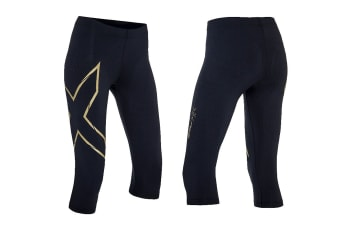 2XU Women's MCS Alpine Compression 3/4 Tights (Black/Gold)