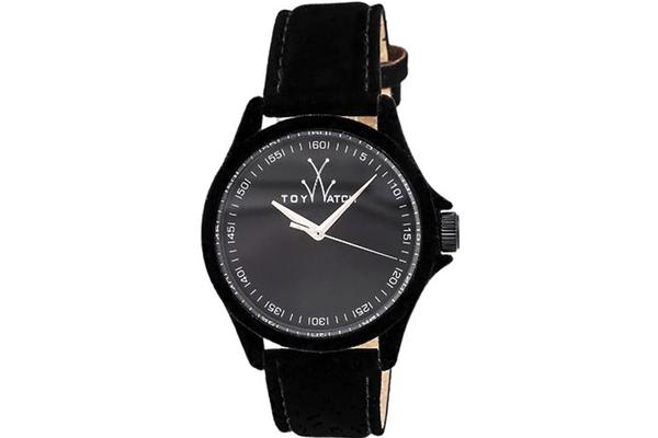 Toy Watch Sartorial Only Time Black Dial Black Velvet-covered Leather Ladies Watch PE01BK (PE01BK)