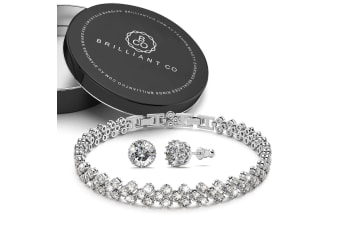 Boxed Bloom Created Diamonds Bracelet and Earrings set