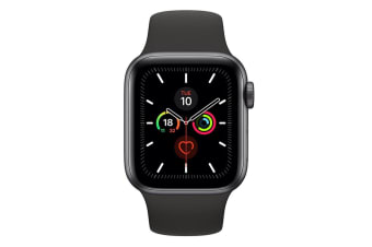 Apple Watch 44mm Series 5 (GPS + Cellular) - Space Grey Aluminum Case w/ Black Sport Band