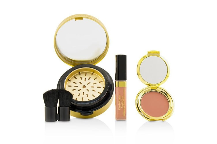 Elizabeth Arden Bronze In The City Color Collection (1 x Bronzing Powder, 1 x Blush, 1 x Lip Gloss, 1 x Brush) 4pcs