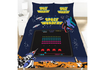 Space Invaders Coin Duvet Set (Multicoloured)