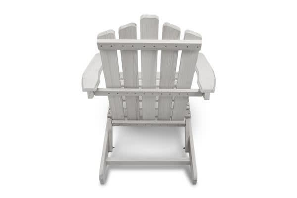 Gardeon Outdoor Adirondack Lounge Chair and Side Table (White)