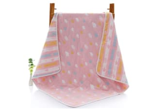 Select Mall 6 Layers of Gauze Bath Towel Soft Baby Children's Bath Towel Strong Absorbent Dry Cleaning Towel-Pink