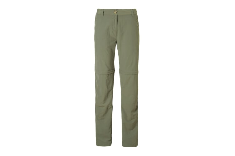 Craghoppers Womens/Ladies NosiLife III Convertible Trousers (Soft Moss) (12L UK)