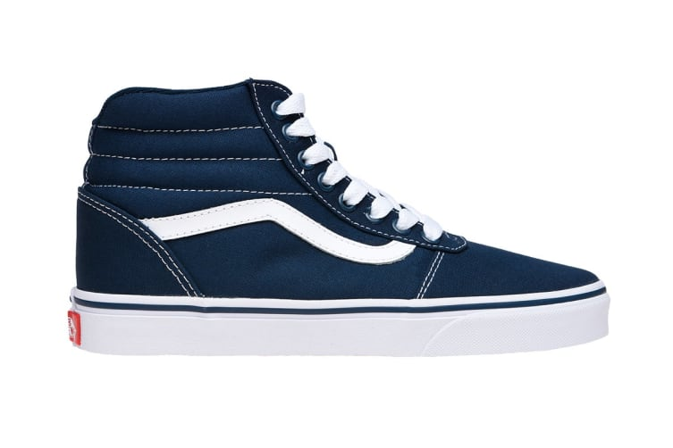 Vans Men's Ward Hi Shoe (Dress Blues/White, Size 9.5 US)