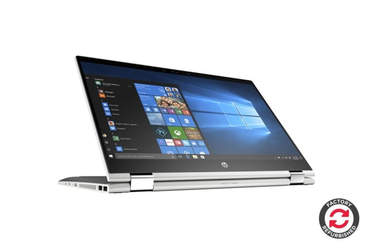 "HP Pavilion x360 15.6"" Convertible 2-in-1 Touch Screen Laptop (i7-8550U, 8GB RAM, 256GB SSD, Silver) - Certified Refurbished"