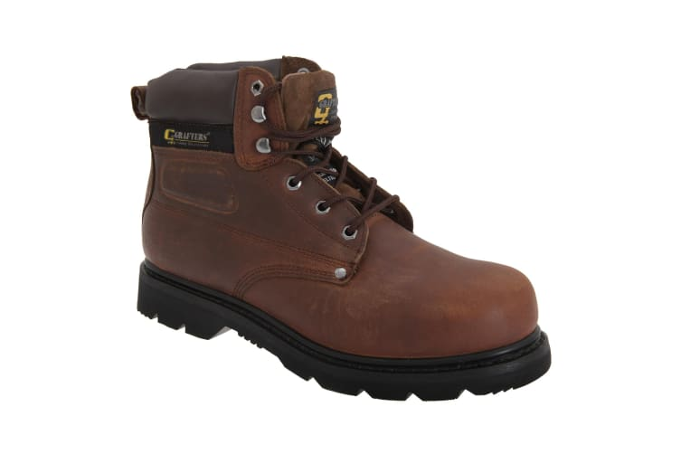 Grafters Mens Gladiator Safety Boots (Brown) (14 UK)