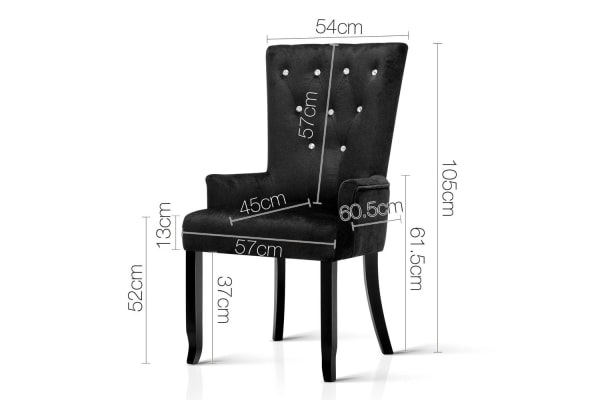 French Provincial Dining Chair (Black)