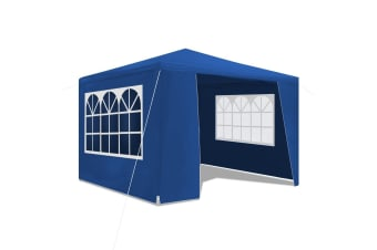 3x3m Blue Walled Waterproof Outdoor Gazebo