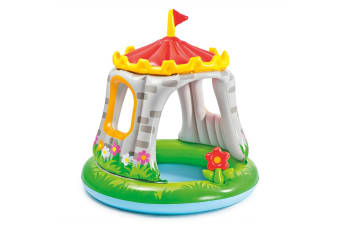 Intex 122cm Royal Castle Kids/Baby Outdoor/Patio Inflatable Pool with Shade 1y+