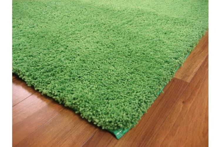 Pack of 2 Awesome Shag Rugs Lime 130x70cm
