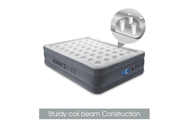 Bestway Queen Size Air Mattress Inflatable Blow Up Bed w/ Built-in Pump