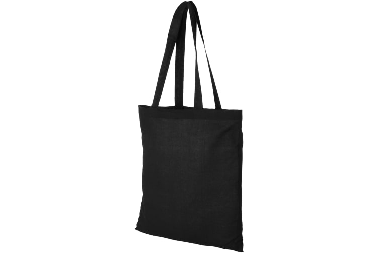 Bullet Madras Cotton Tote (Solid Black) (40 x 41cm)
