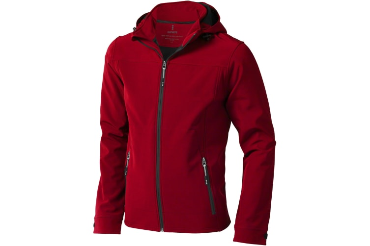 Elevate Mens Langley Softshell Jacket (Red) (M)
