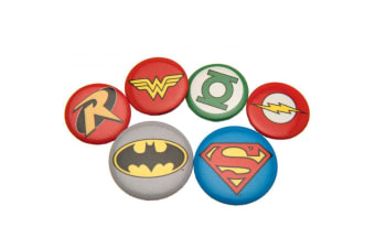 DC Comics Button Badge Set (Pack of 5) (Multicolour) (One Size)