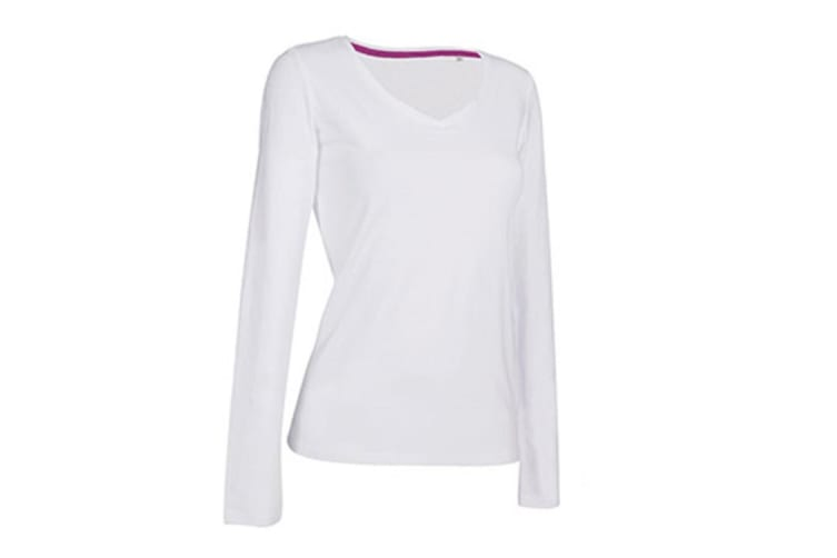Stedman Womens/Ladies Claire Long Sleeved Tee (White) (M)