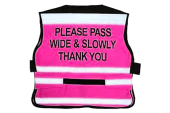 Equisafety Please Pass Wide & Slowly Air Waistcoat (Pink)