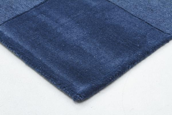 Wool Hand Tufted Rug - Box Petrol - 300x80cm
