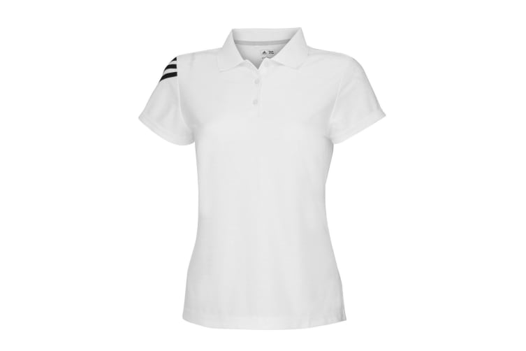 Adidas Womens/Ladies Corporate 3 Stripe Short Sleeve Polo Shirt (White) (XS)
