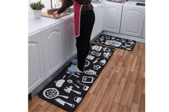 Non-Slip Kitchen Floor Mat Doormat Runner Rug - 2 , 40*60Cm
