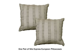 Nile Express - Pair of European Pillowcases by Linen House