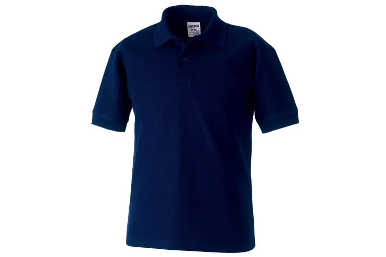 Jerzees Schoolgear Childrens 65/35 Pique Polo Shirt (Pack of 2) (French Navy) (9-10)