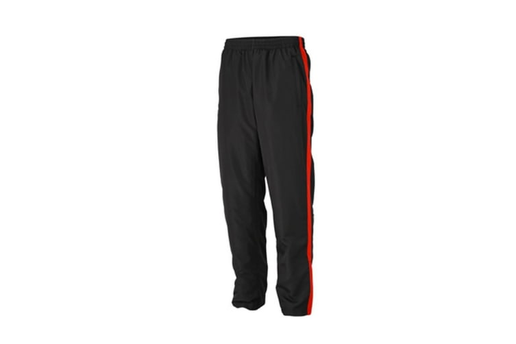 James and Nicholson Mens Sports Pants (Black/Tomato) (M)