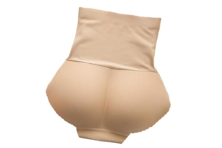 Seamless High Waist Butt Padded Panty with Tummy Trimmer L