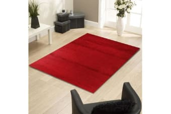 Funky Urban Shag Runner Rug - Red