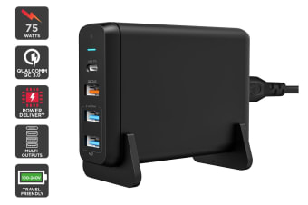 Kogan 75W PD and QC 3.0 MultiPort Charger