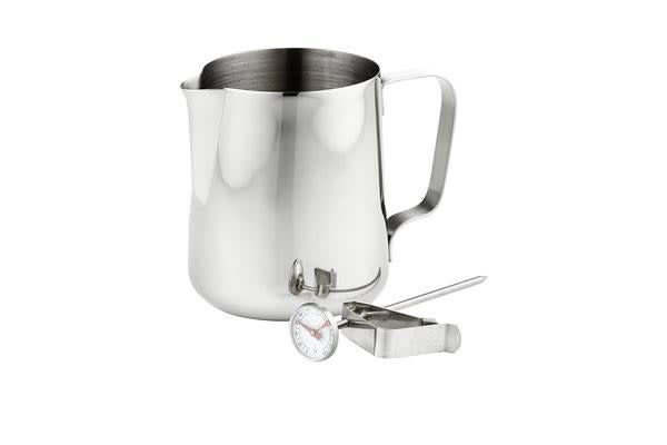 Leaf & Bean Milk Frothing Jug & Thermometer