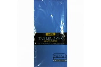 Amscan Plastic Rectangular Solid Colour Party Tablecover (Bright Royal Blue)