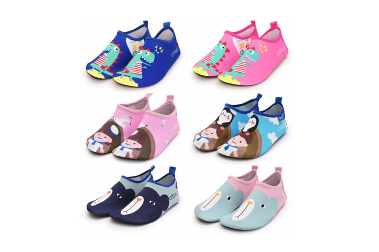 Kids Swim Water Shoes Non-Slip Quick Dry Barefoot Aqua Pool Socks Shoes - 2 25-26