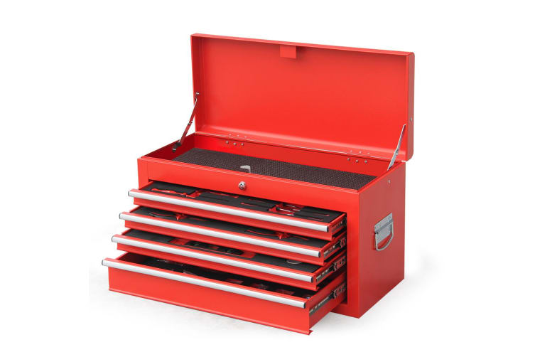 BULLET 478 Piece Tool Box Chest Kit Storage Cabinet Set Drawers With Tools RED