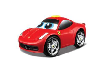 BB Junior Touch & Go 458 Italia Car w/Sounds Baby/Kids Motorised Toy 12m+ Red