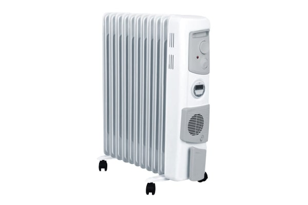 Dimplex 2.4kW Freestanding Oil Column Heater w/Timer & Turbo Fan - Arctic White (OFC2400TIFW)