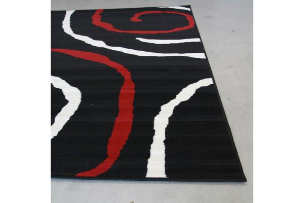 Urban Vine Rug Black Red White 230x160cm