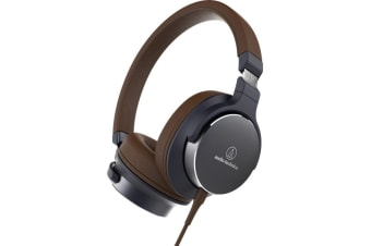 Audio-Technica ATH-SR5 On-Ear Headphones (Navy Brown)