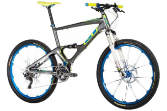 GT ZASKAR Carbon 100 Team Shimano XTR Mountain Bike 26 Dual Suspension L""