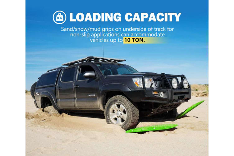 ATEM POWER Sand Recovery Tracks Mud Snow Grass Trax Car Offroad 4WD 4x4 Green