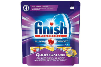 40PK Finish Super Charged Tablets - Quantum Max  - Lemon Sparkle