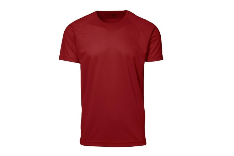 ID Mens Game Active Fitted Short Sleeve Sport T-Shirt (Red) (L)