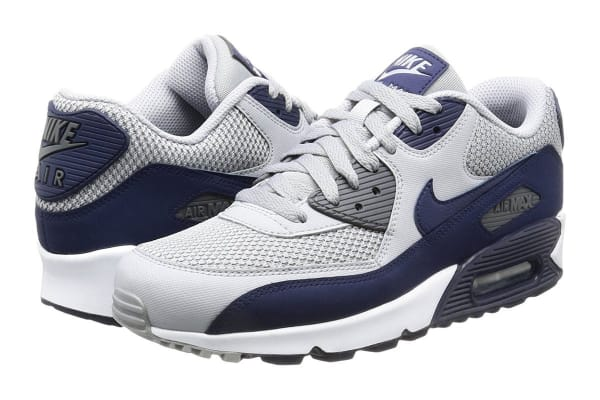 Nike Men's Air Max 90 Essential Shoe (Wolf Grey/Blue/White, Size 7.5)
